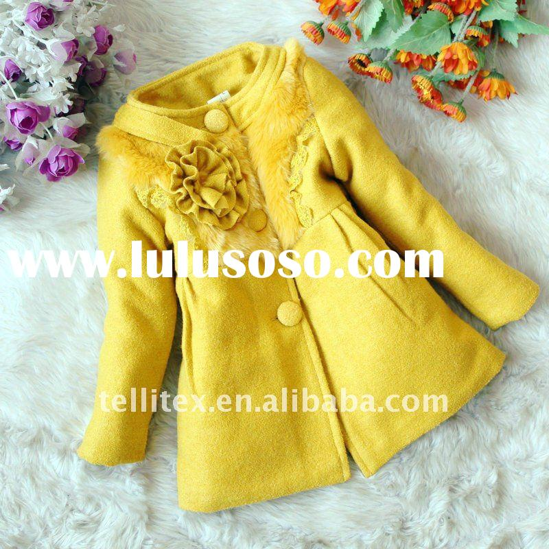 Girls Coats with Hair on Collar Korean Children Clothing Kids Clothes Children Coats
