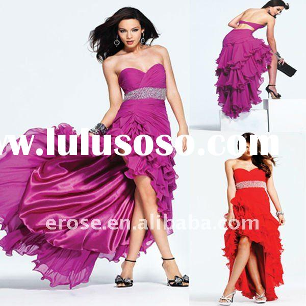 Hot Sale P-D019 Beaded Sweetheart Neckline Chiffon Prom Dress
