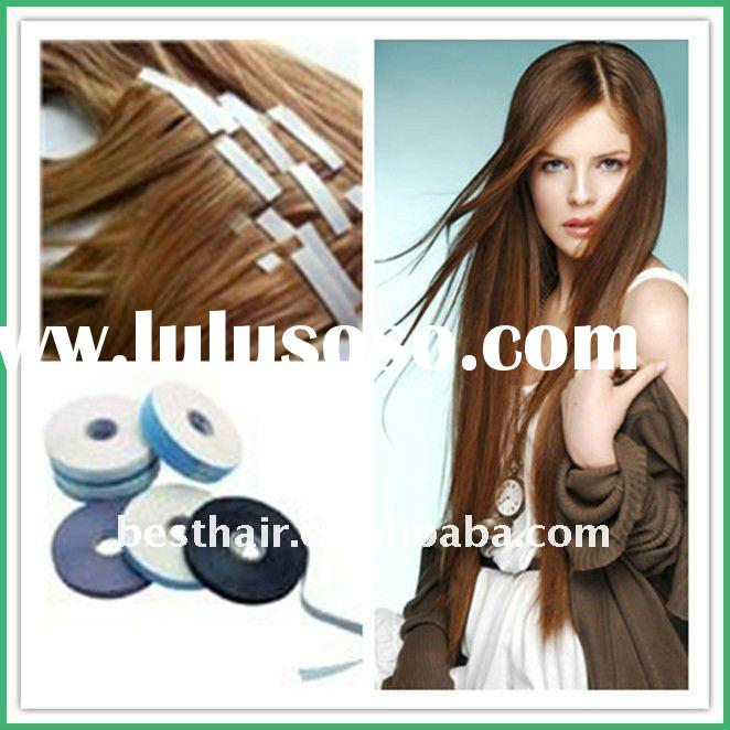 PU human remy hair straight /skin weft hair extension
