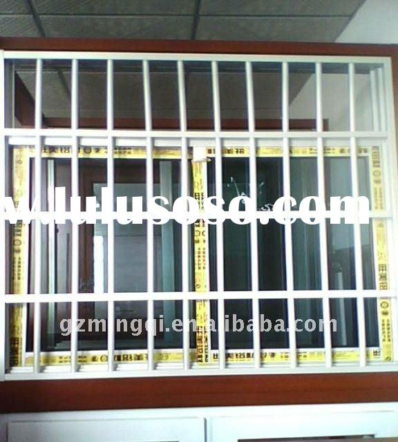 china PVC sliding window with grill design