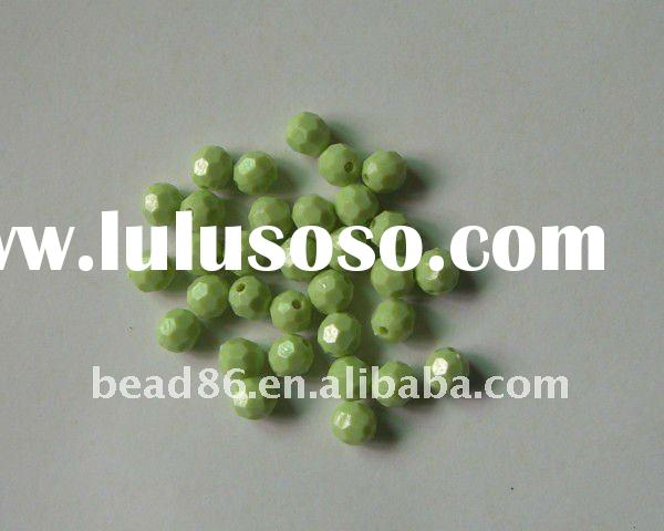 fashion faceted acrylic beads
