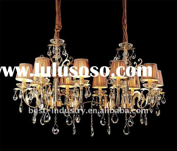 modern warm color crystal ceiling lamp