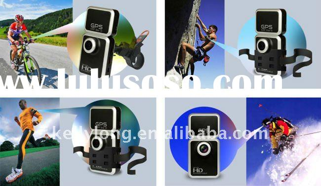 1080P full HD anti shake DVR for sports  with remote control + GPS+1.5 inch TFT screen
