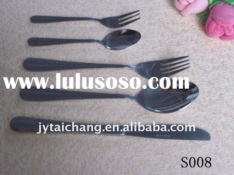 2011 hot sell stainless steel cutlery flatware set