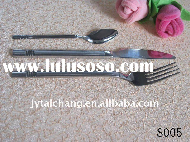 High class stainless steel  flatware fork, knife and spoon