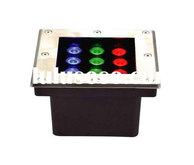 RGB high power LED underground light/Epistar Chip/9W/IP65