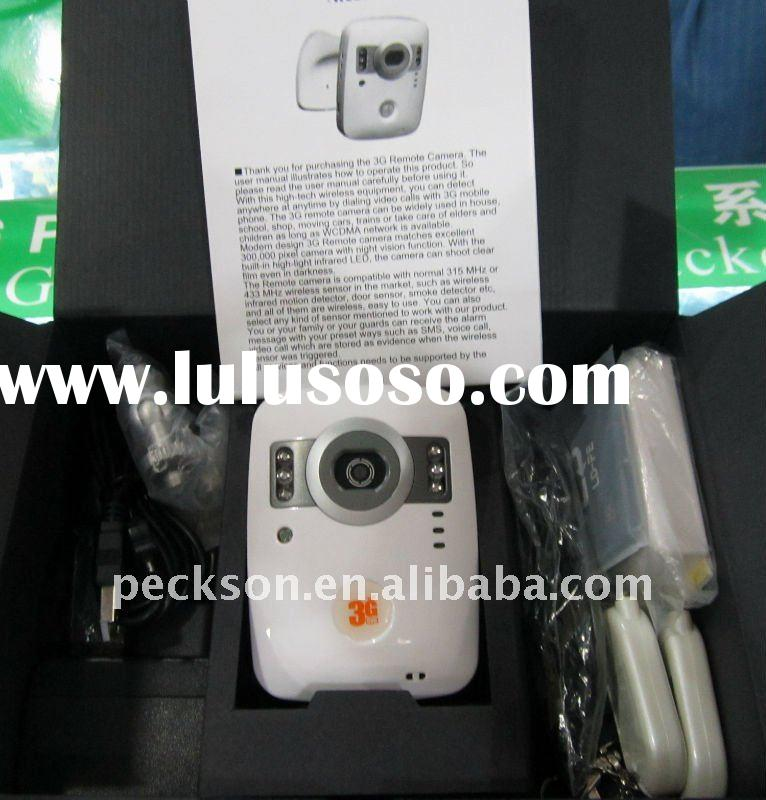 WCDMA 3G camera for video surveillance with 2 way talk, motion detection