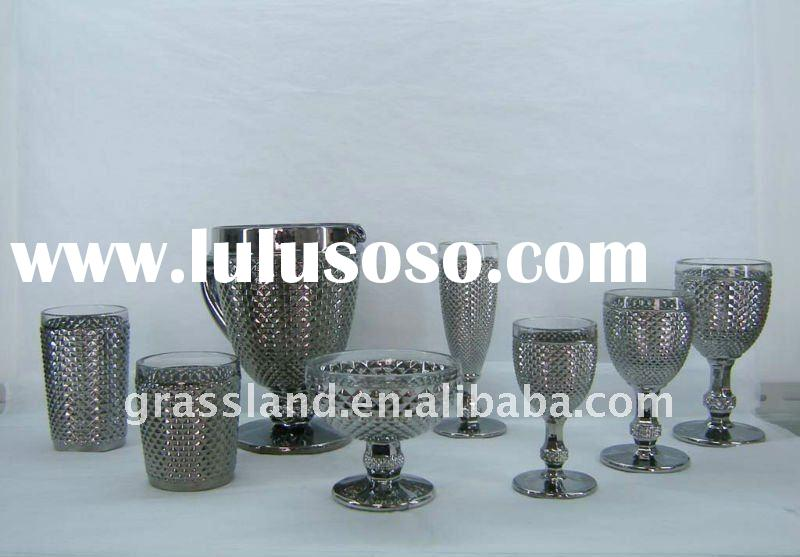 silver drinking glass set,various designs&sizes
