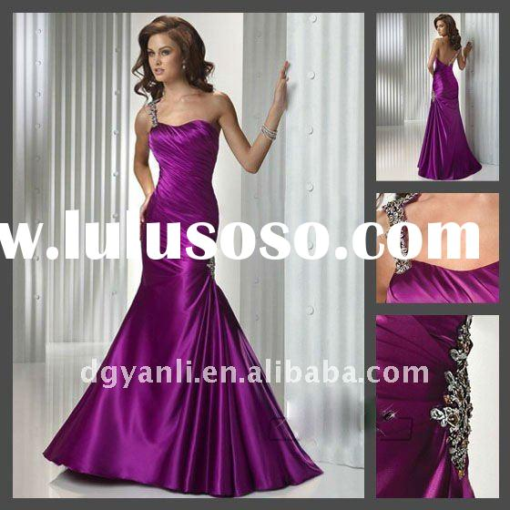 2012 Hot Sale Fashion Gorgeous One Shoulder Evening Dress 00012