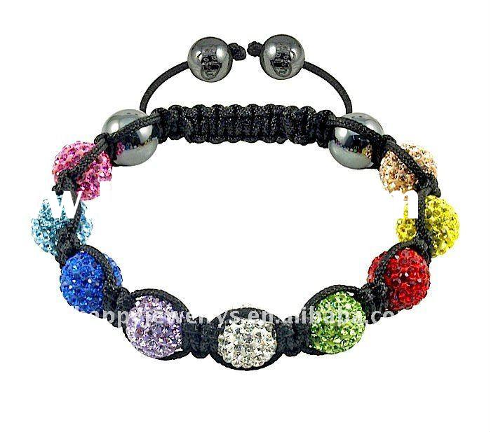 Colorful Beads shamballa bracelet wholesale GB278