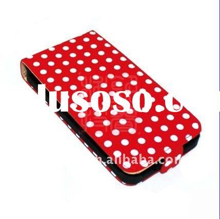 DOT LEATHER FLIP CASE COVER POUCH FOR SAMSUNG GALAXY II S2 I9100
