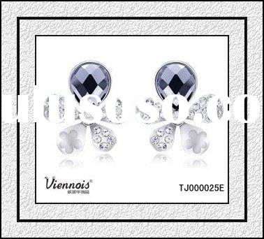 Fashion Ladies Flower Stone Earrings design