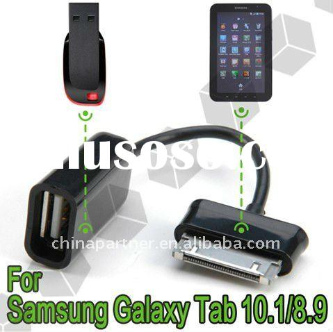 Female USB Host OTG Cable adapter Dongle For Samsung Galaxy Tab 10.1 8.9 P7500