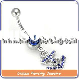 Hot selling design fashion belly ring body piercing jewelry (U8463)