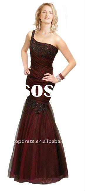 One Shoulder Ruched Mermaid Prom Gown POD28