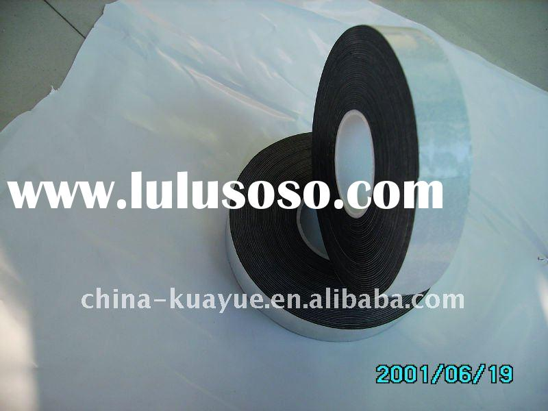 high voltage self adhesive butyl rubber tape with white released liner