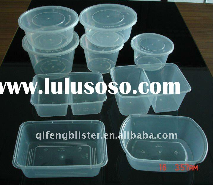 wholesale round and rectangular disposable microwave plastic food container bowl,plastic food contai