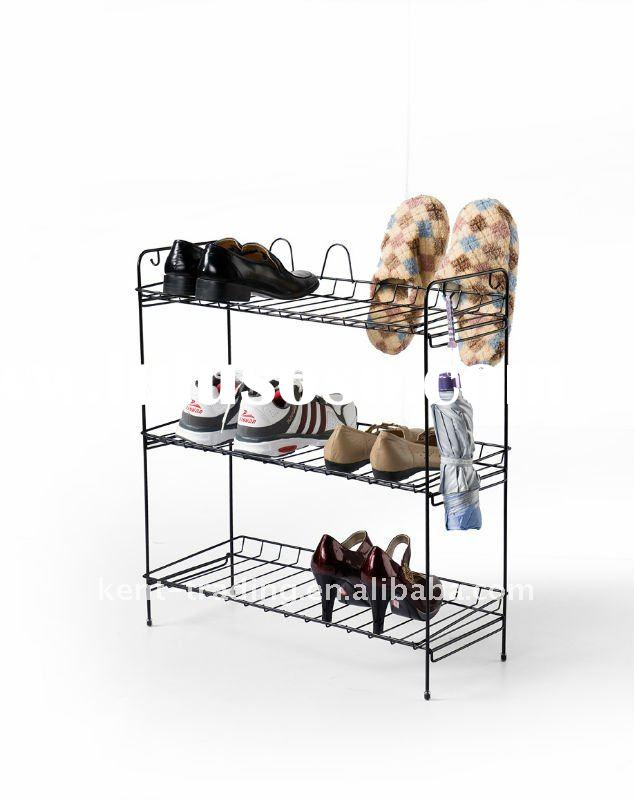 Fashion metal stainless iron shoe rack with 3 shelf and paypal will be ok