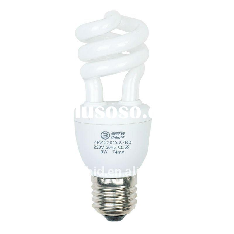 For Promotion Cnlight 9W ENERGY Saving Lamp Semi Spiral Compact Fluorescent lamp