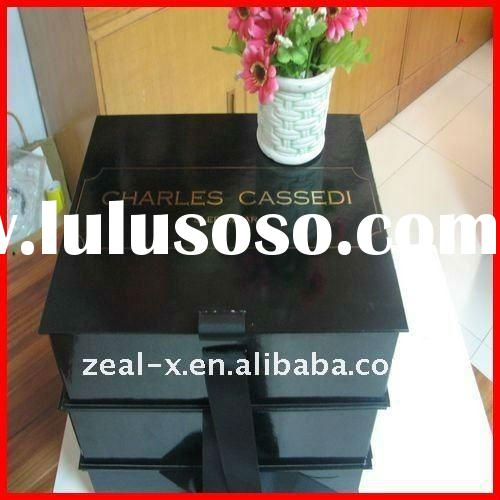 book shape and foldable cardboard dress box packaging