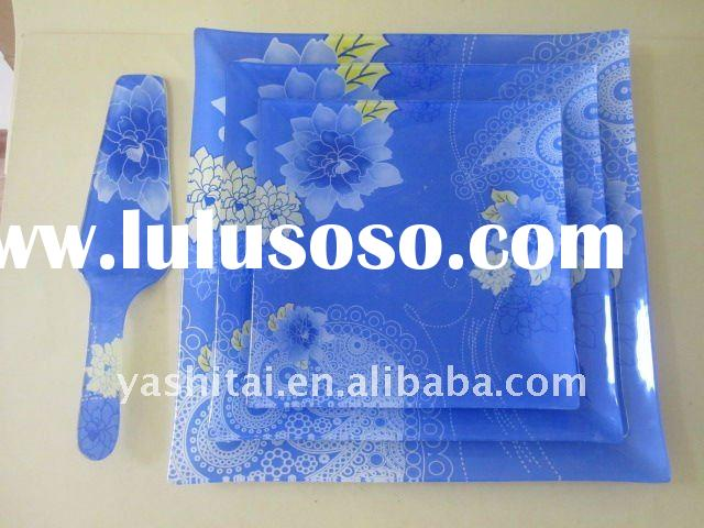 hot sale decal temperad glass plate