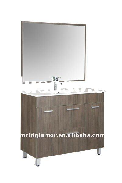 Bertch floor mounted bathroom vanity cabinet with ceramic basin Chicago-90