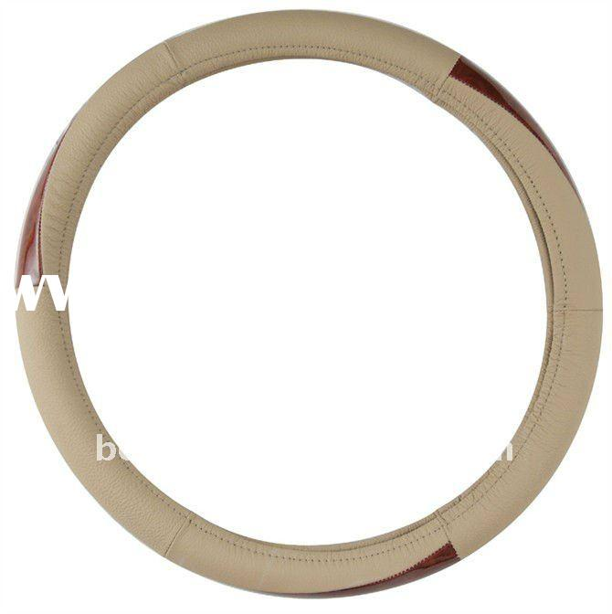 cheap price pure leather steering wheel cover