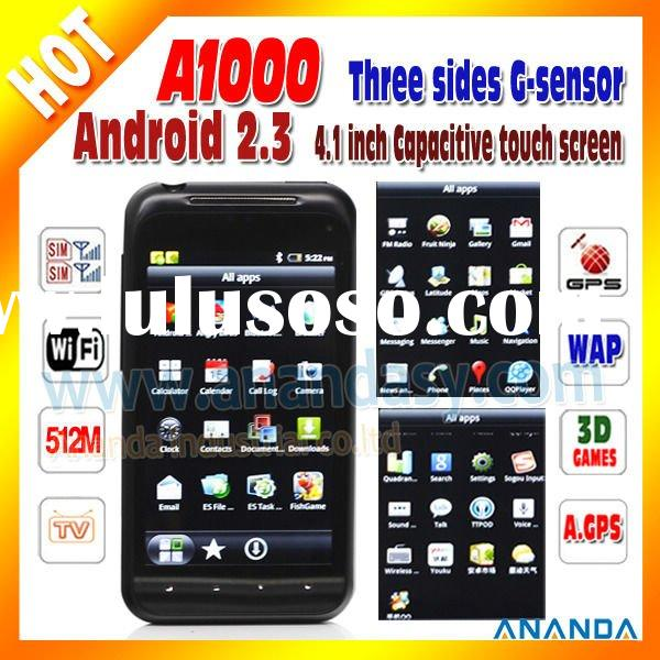 dual sim android gps mobile phone A1000