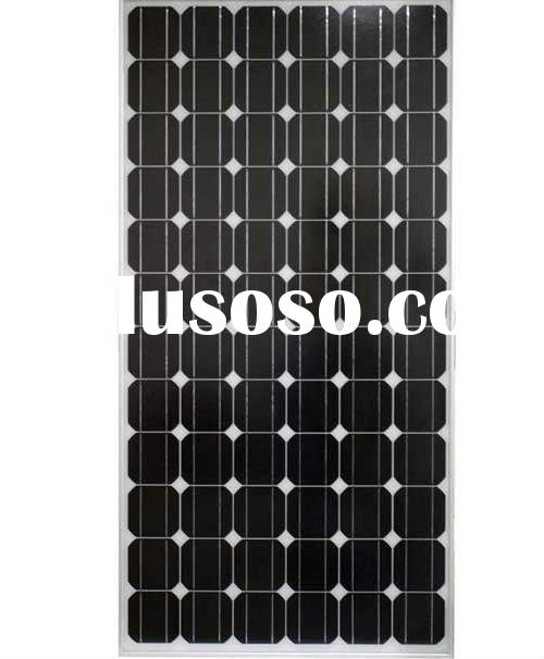 High efficiency Monocrystalline solar panel with CE&ROHS certificate