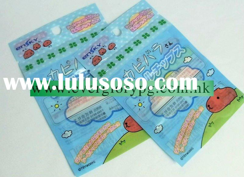 colorful toys packing small zip lock plastic bags