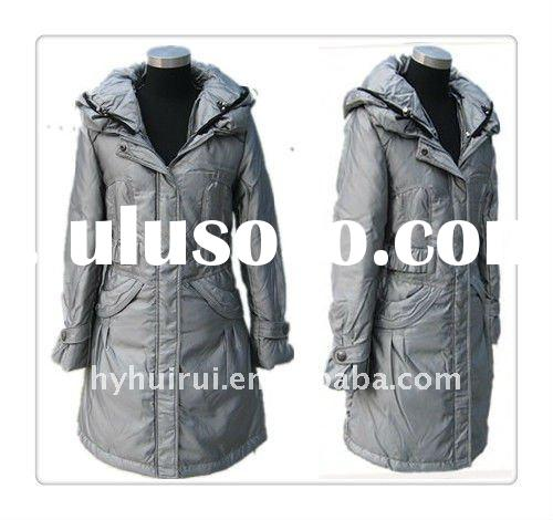 fashion and luxury design middle - long fit down filled women winter coat