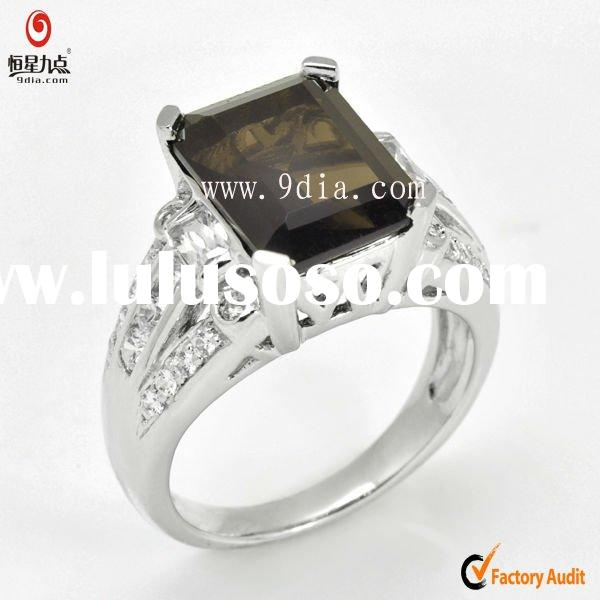 smoky Quartz Ring 925 Sterling Silver Ring Fashion Gemstone Ring