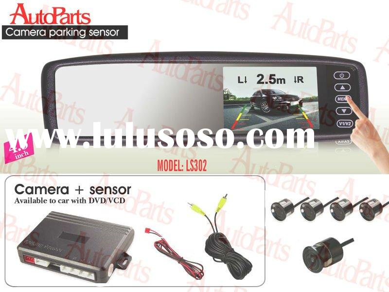 4.3inch LCD Monitor  car Parking sensor with 4 sensors with one night Camera