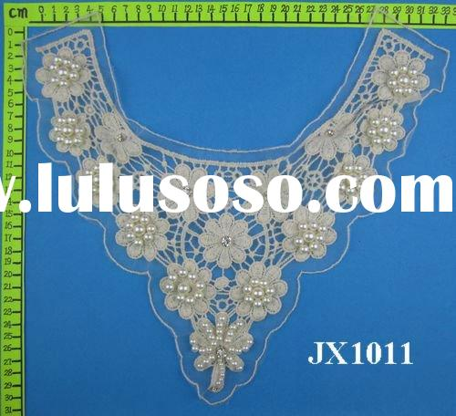 Latest fashion beaded cotton neck lace