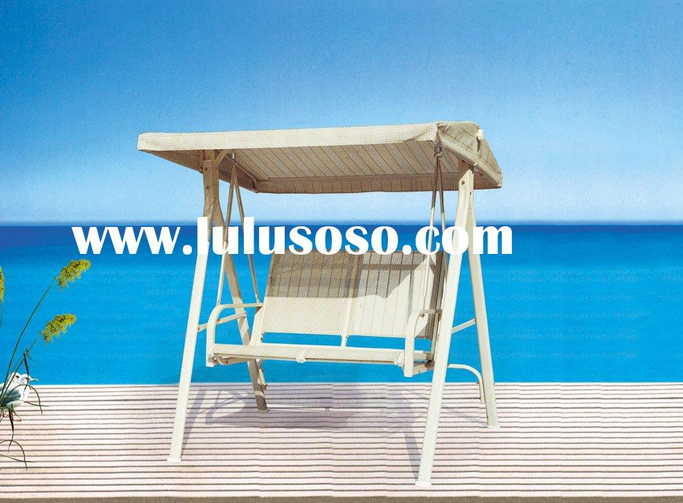NEW Two Seats PE Rattan Outdoor Swing Chair