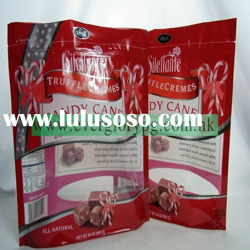 customized stand up food colored zip lock bag