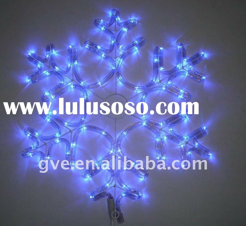 "17.3""H solid snowflake rope sculpture  LED rope light"