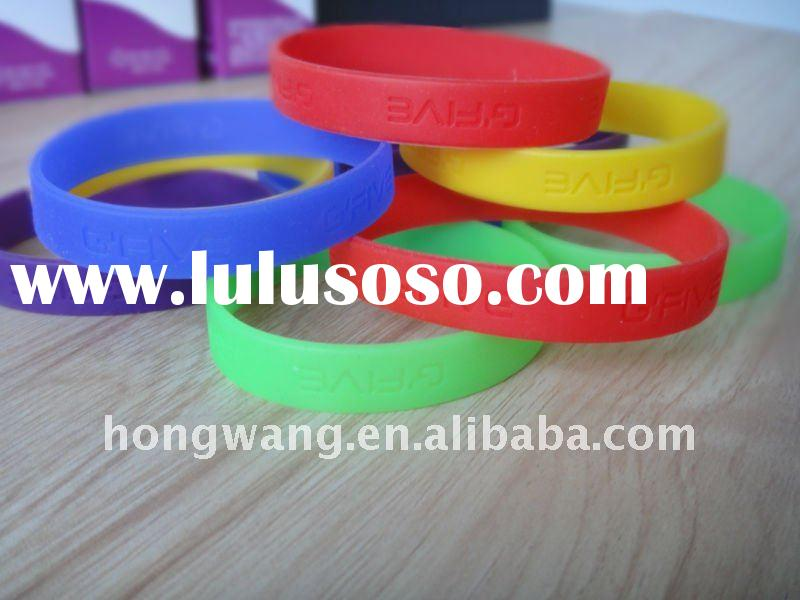 2011 simple silicone wristband can be custom  kinds of color and size