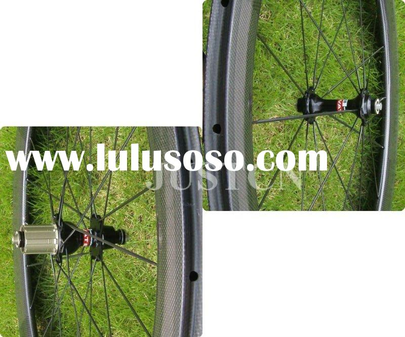 50mm Tubular carbon wheelset with aero spoke