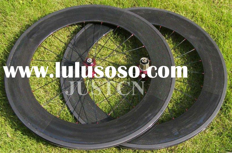 88mm100% carbon bike wheels clincher with S-himano or Campagnolo cassette body