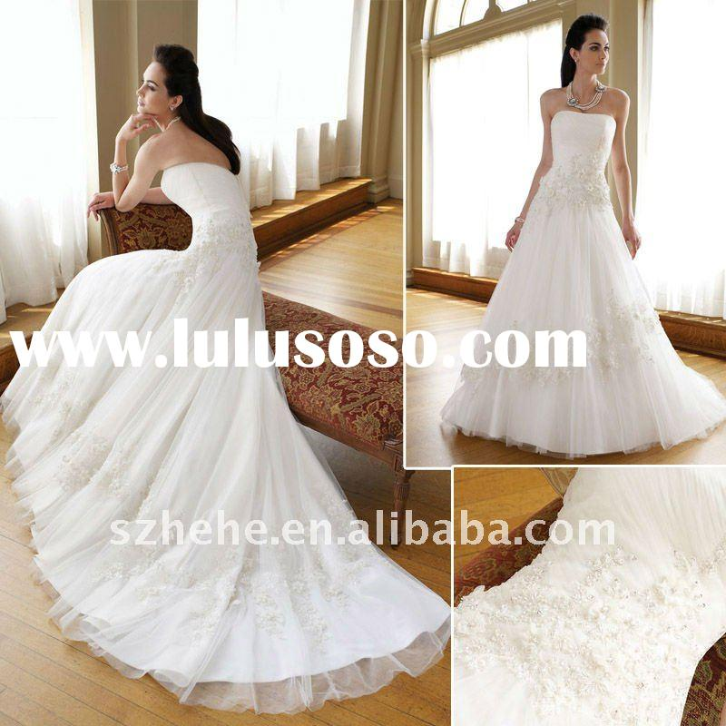 J0302 New arrival 2011 latest informal open back bridal wedding gown