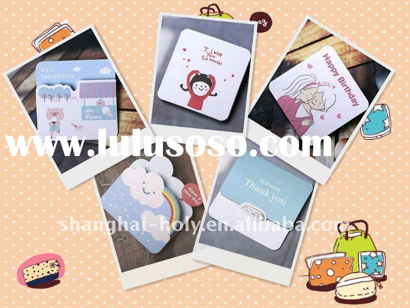 Personalized 3D Cartoon Birthday Cards/Greeting Cards