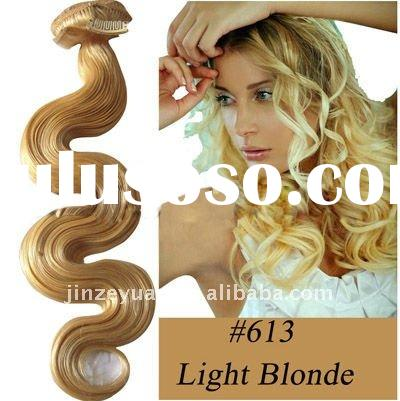 high quality 18'' indian clip in human hair extension