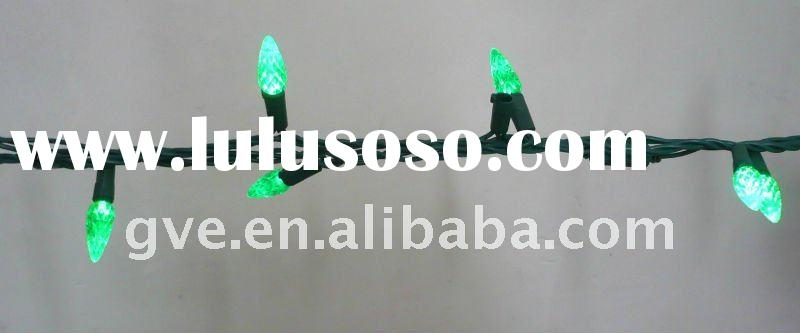 new type of C6 LED holiday string light