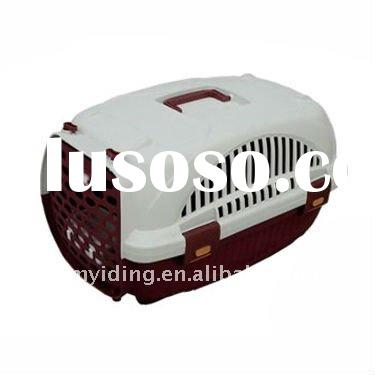Fashional Plastic Pet Travel Carrier or Cage with door and handle