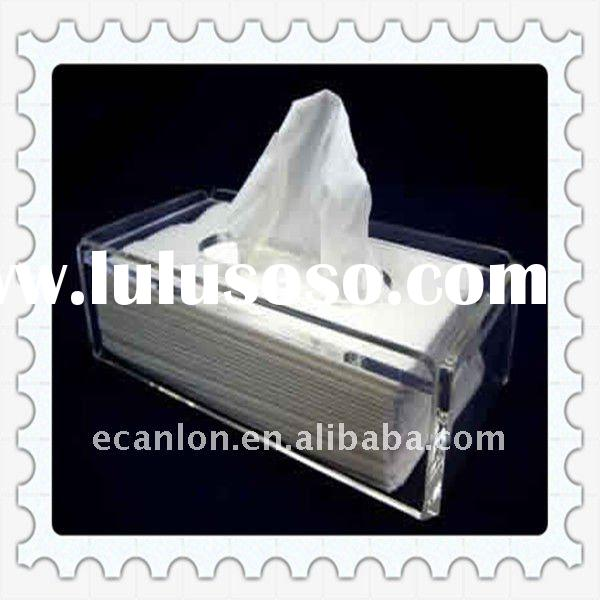 clear acrylic tissue box