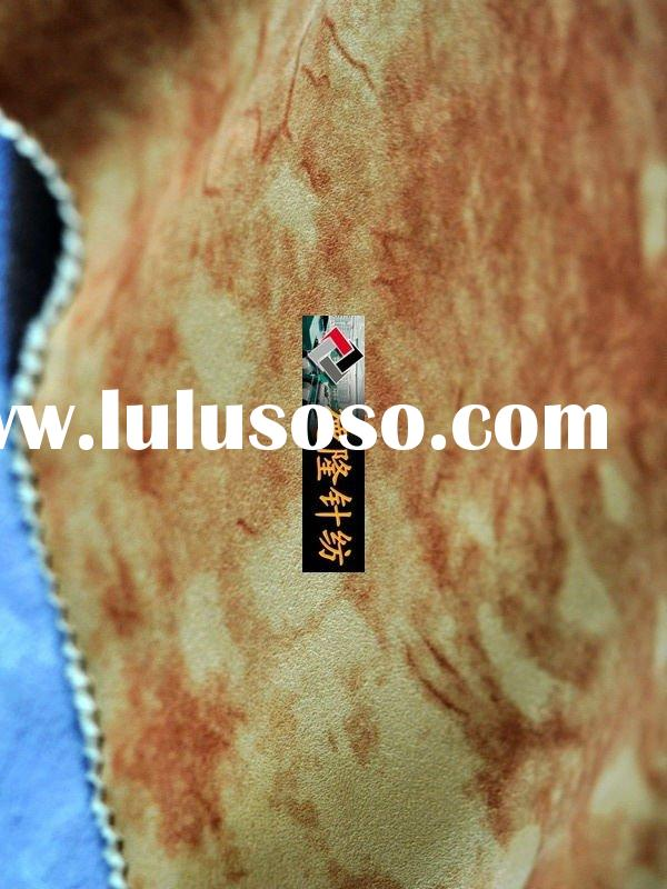 printed fabric suede fabric