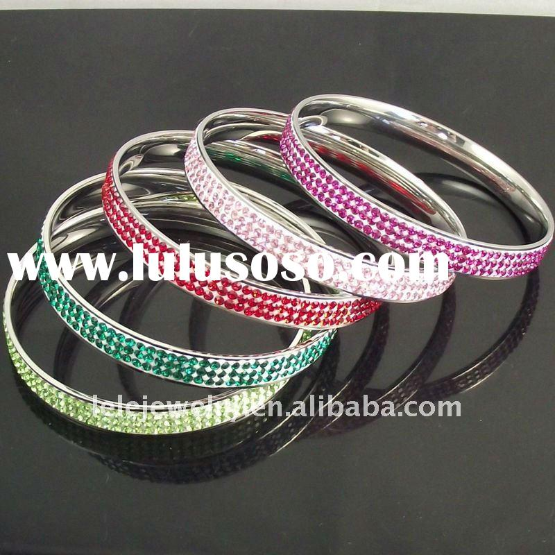 2011 Fahsion Stainless Steel Bracelet Jewelry With Crystal designs