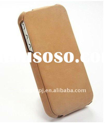 Apricot imitation leather cases for Iphone
