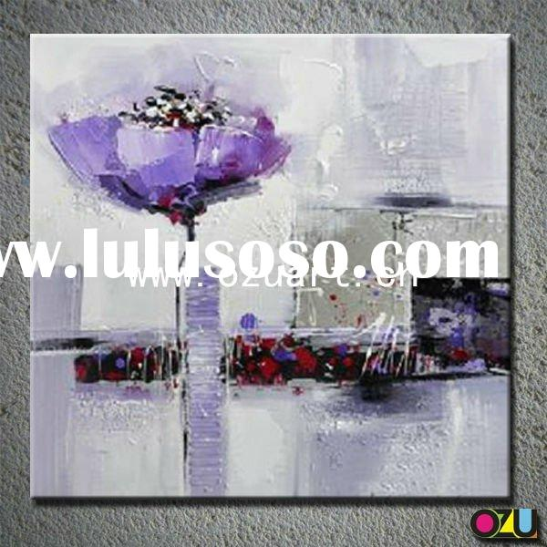 New Designed Handmade Poppy Flower Abstract Oil Painting